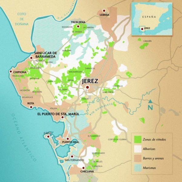 Mapa da Região de Jerez