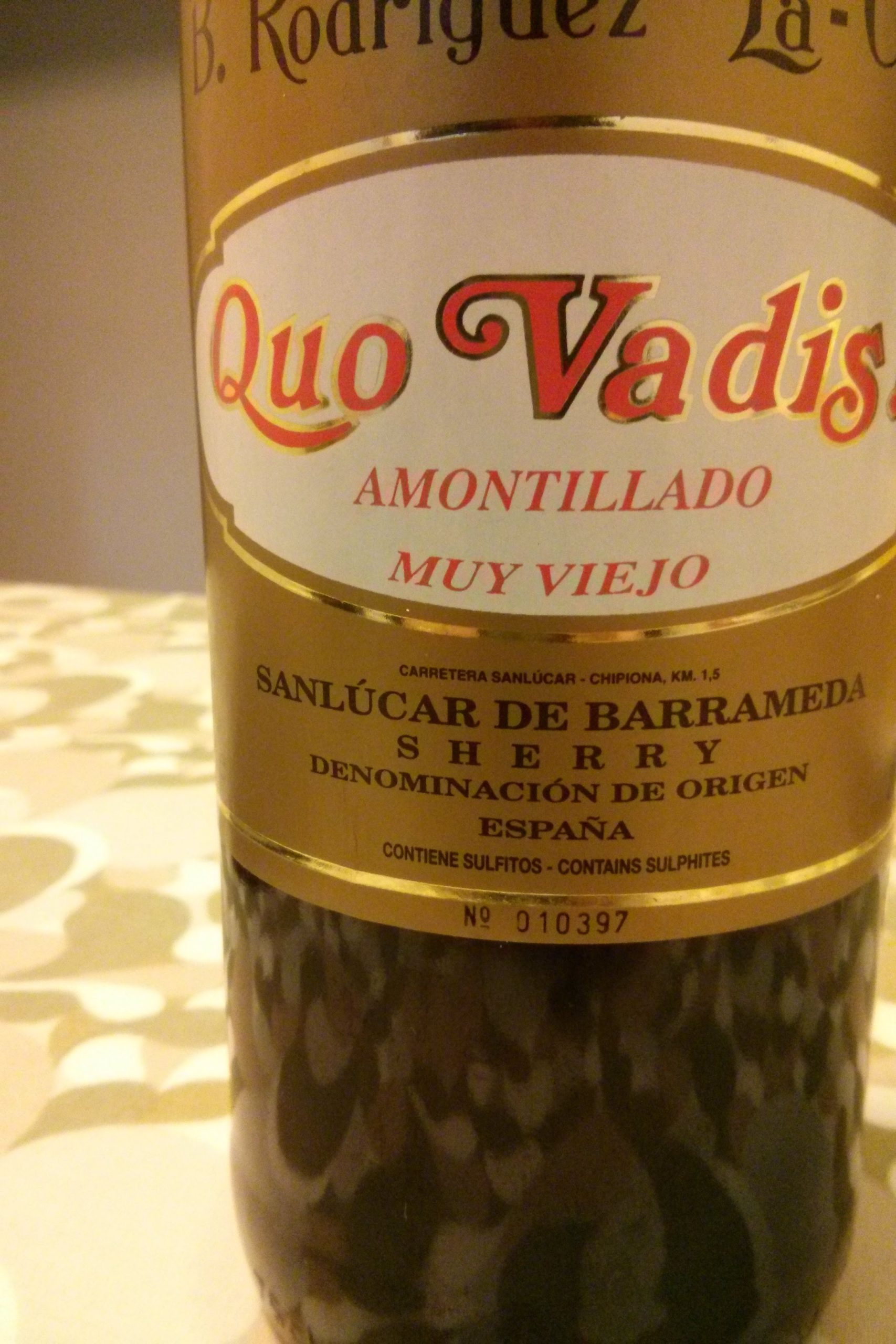 Amontillado Quo Vadis
